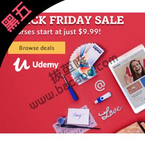Udemy网络教育黑五促销全场课程一律$9.99