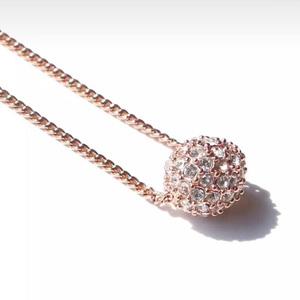 Givenchy纪梵希火球玫瑰金锁骨链
