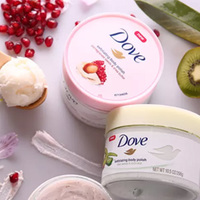 好价再来!Dove多芬 石榴籽乳木果冰淇淋身体磨砂膏 225ml*4瓶