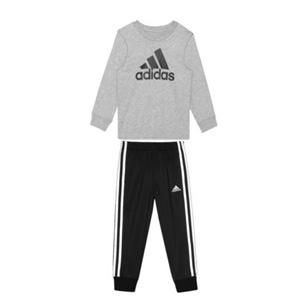 Adidas 小童款棉质T恤和运动裤套装