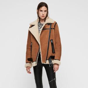 AllSaints英国官网全场女式皮夹克7折促销