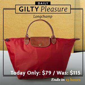 Gilt网站现有Longchamp饺子包一律$79促销