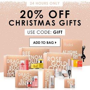 Rodial英国官网圣诞促销精选产品低至4折+额外8折