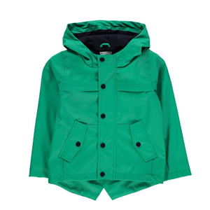 Crafted Rain Mac儿童绿色连帽风衣