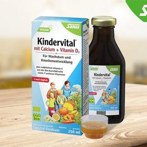 Salus Kindervital 钙+维生素D3 儿童有机果蔬营养液 250ml