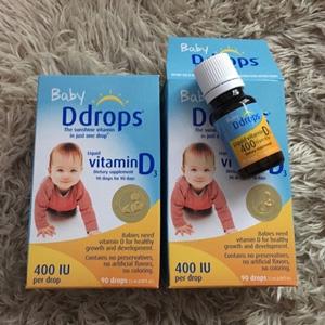 Ddrops 婴儿维生素d3滴剂 90滴*2件装