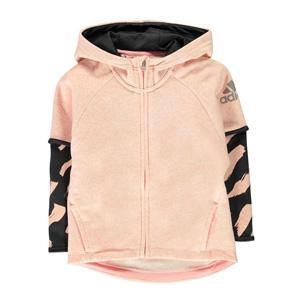 限5-6码!adidas阿迪达斯 COT Cover Up儿童卫衣
