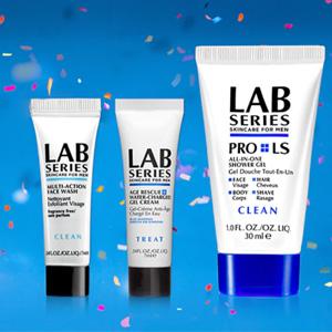 Lab Series朗仕官网全场男士护肤满$65送护肤3件套