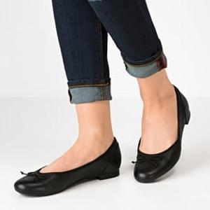 Clarks Couture女士真皮平底鞋