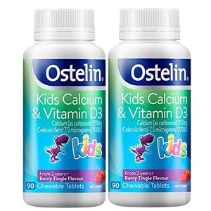 Ostelin 儿童钙+维生素D咀嚼片 90粒*2