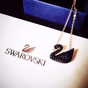 Swarovski施华洛世奇 小黑天鹅项链