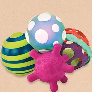 闪购!B.Toys 比乐 功能球套装 触感球