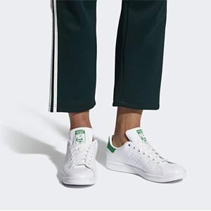 Adidas阿迪达斯Stan Smith 男款绿尾
