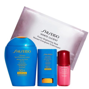 Shiseido 蓝胖子防晒套装(价值$96)