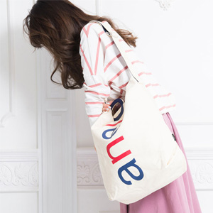 Anello 大logo设计棉质帆布两用单肩手提包 AU-S0061