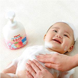Pigeon贝亲 桃子水 婴儿二合一洗发沐浴露450ml