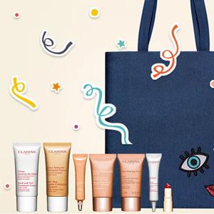 Clarins美国官网周年庆全场护肤满$100送价值$134八件套礼包