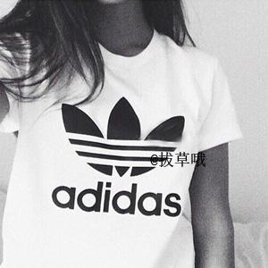 女式可穿!Adidas阿迪达斯 adicolor 经典logo男款T恤