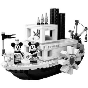 新品!LEGO ideas系列 威利号蒸汽船21317,米奇90周年纪念款