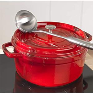 Staub 圆形带盖珐琅锅铸铁锅 24cm 樱桃红