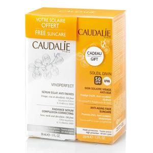 Caudalie 欧缇丽 葡萄籽亮白抗斑精华防晒套装30ml+25ml