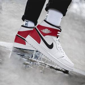 AIR JORDAN 1 MID AJ1小芝加哥 中童款篮球鞋