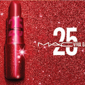 MAC英国官网纪念25周年款viva glam唇膏上市