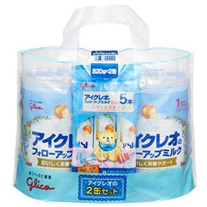固力果 婴幼儿牛奶粉 二段 800g*2罐 送便携装