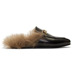 Gucci经典毛毛穆勒鞋拖鞋