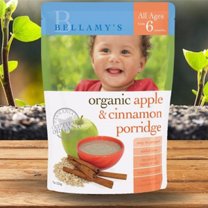 Bellamy's 贝拉米 有机苹果桂皮泥粥 125g