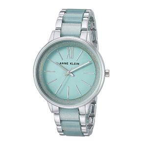 降价!Anne Klein AK/1413MISV 银色+薄荷绿时尚手表