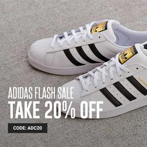 YCMC官网现有adidas阿迪达斯三叶草贝壳鞋额外8折促销