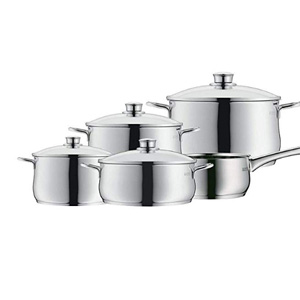 WMF福腾宝 Diadem Plus系列 不锈钢锅具5件装