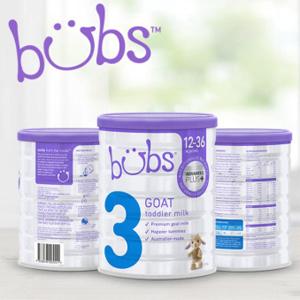 包邮!Bubs 贝儿 婴幼儿羊奶粉3段 800g 3罐装