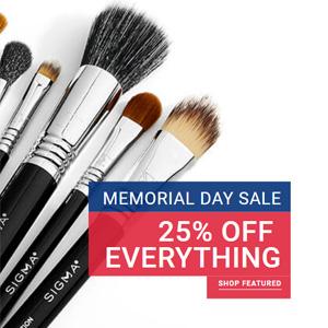 Sigma Beauty官网Memorial Day全场化妆刷额外75折促销