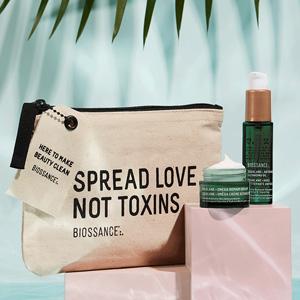 Biossance网站现有全场护肤品产品满$50送3件套