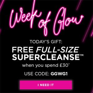 Glam Glow英国官网满£30加赠正装白泥洁面