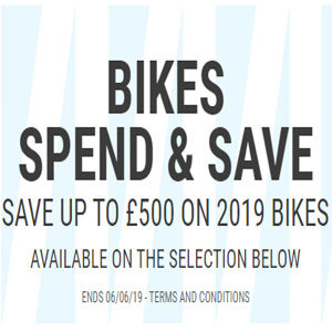 Wiggle英国官网现有自行车专场最高满£2500立减£500促销