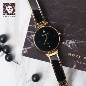 Anne Klein 女士 AK/1980BKGB 镶钻时装腕表
