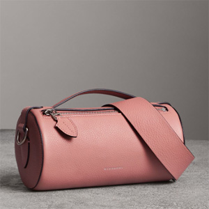 Burberry巴宝莉 粉色圆筒包