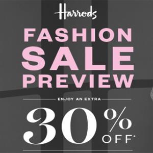 Harrods百货精选大牌服饰鞋包7折促销
