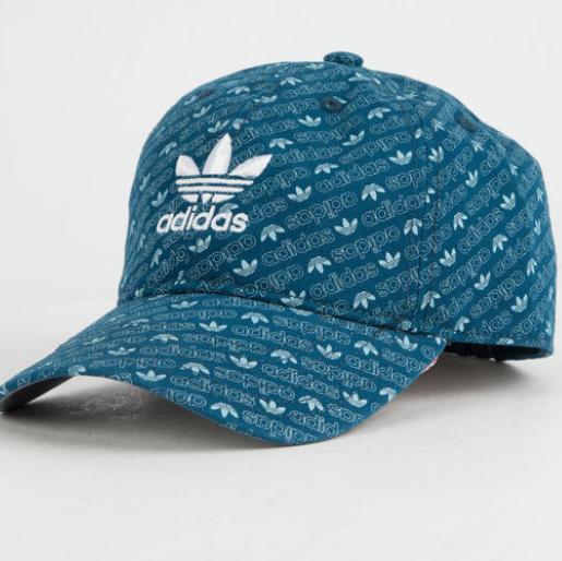 Adidas Original 三叶草 蓝色徽标棒球帽