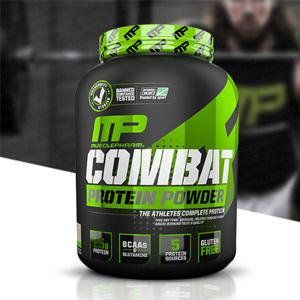2件0税免邮!Muscletech肌肉科技运动系列Combat蛋白粉 巧克力牛奶4磅