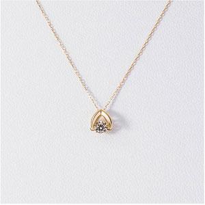 松屋原创 Dancing Stone 钻石白金项链 K18 0.1克拉