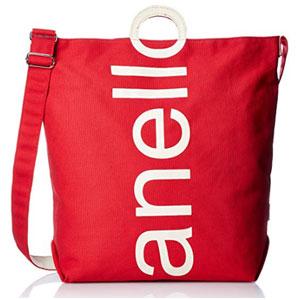 Anello 大logo设计棉质帆布两用单肩手提包 AU-S0061 红色