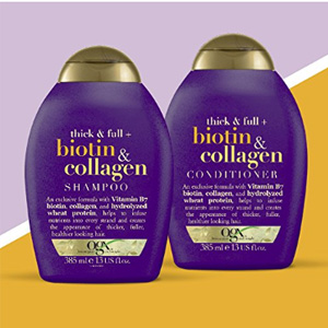 OGX生物素胶原蛋白洗发水/护发素 385ml