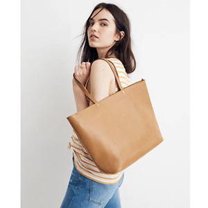 Madewell The Abroad Tote Bag 真皮手袋 三色
