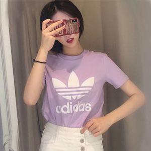 降价!Adidas阿迪达斯 adicolor 经典logo女款T恤