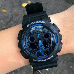 CASIO卡西欧 G-SHOCK系列 GA-100多功能双显运动手表