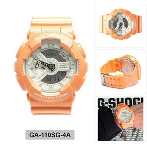 补货!Casio卡西欧 G-Shock 橙色手表 GA110SG-4A